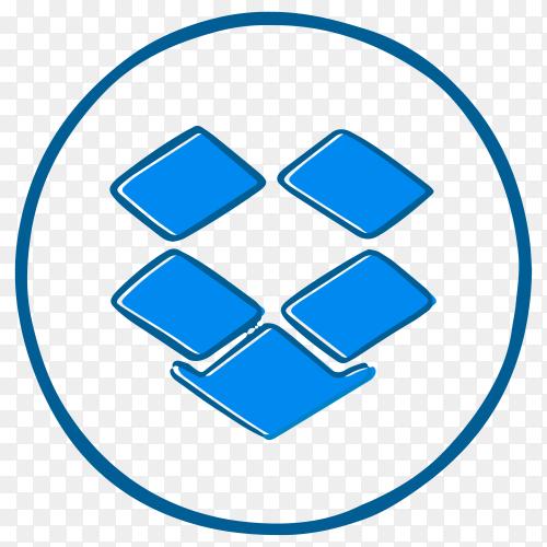 Dropbox Logo design illustration on transparent background PNG