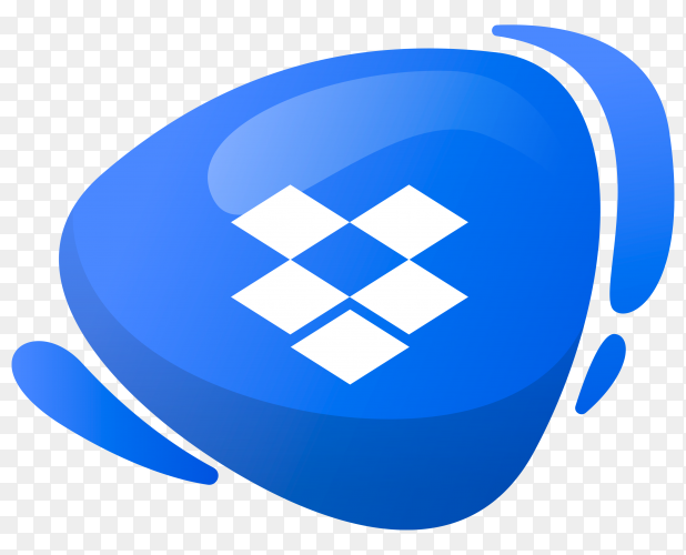Dropbox logo in gradient colors on transparent background PNG