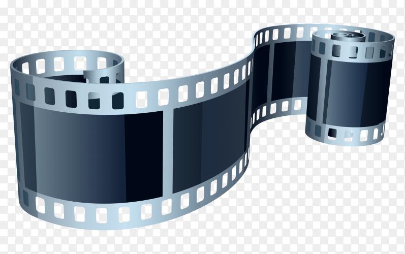 Elegant 3d film strip on transparent background PNG