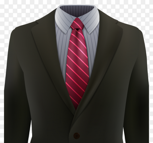 Elegant suit on transparent background PNG