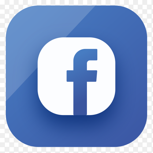 Facebook icon design in gradient colors premium vector PNG