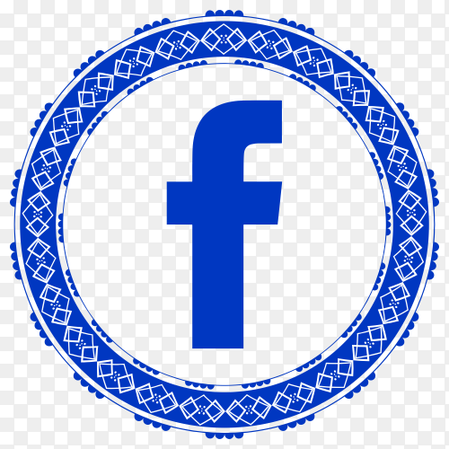 Facebook modern style icon on transparent background PNG