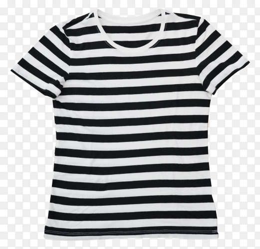 Female t-shirt on transparent background PNG