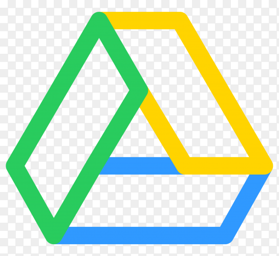 Flat design Logo google drive on transparent PNG
