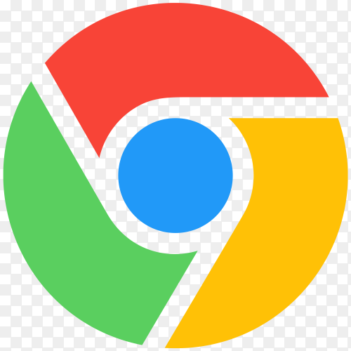 Flat design logo google chrome premium vector PNG