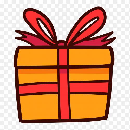 Gift box illustration on transparent background PNG