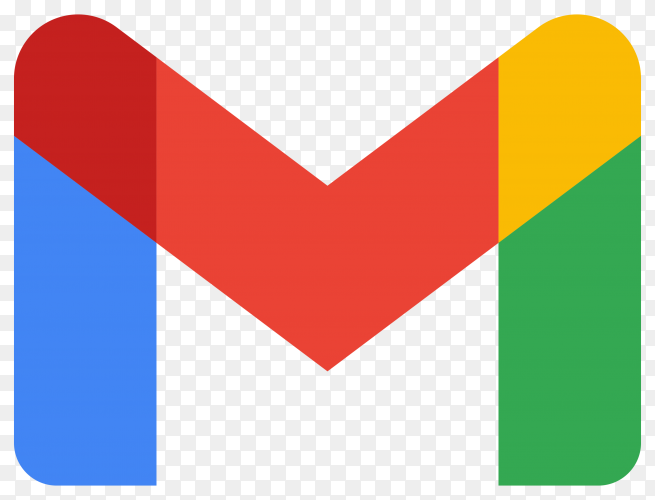 Gmail logo design on transparent background PNG
