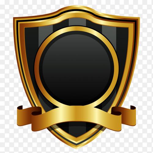 Golden label illustration on transparent background PNG