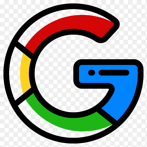 Google Logo illustration on transparent PNG