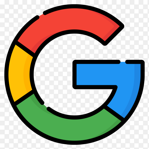 Google Logo isolated premium vector PNG