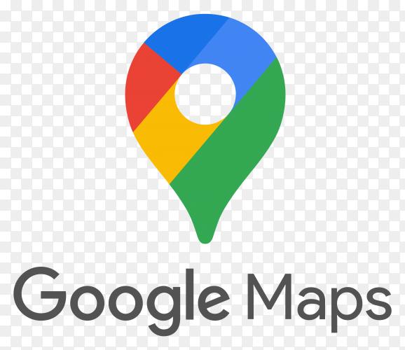 Google Maps logo design on transparent background PNG