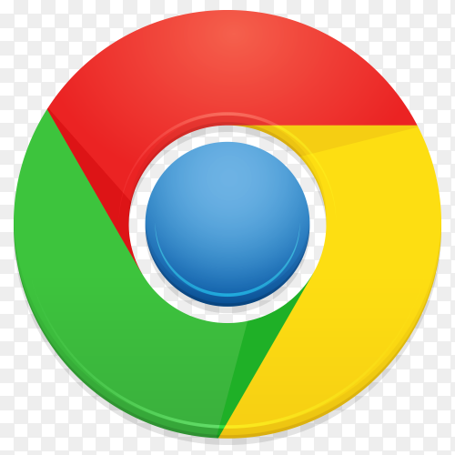 Google chrome logo on transparent PNG