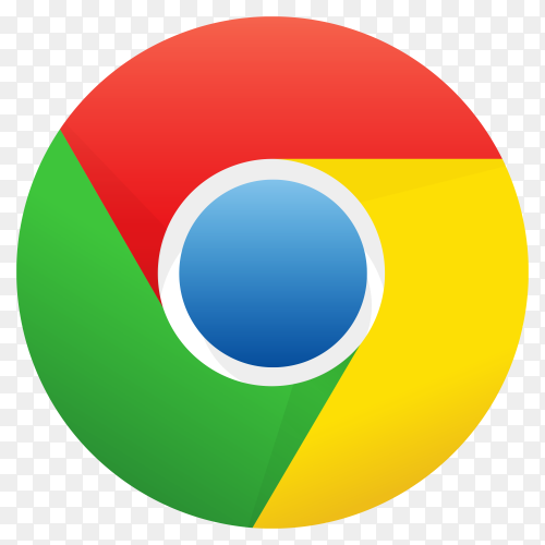 Google chrome logo premium vector PNG