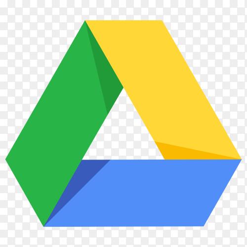 Google drive logo on transparent background PNG