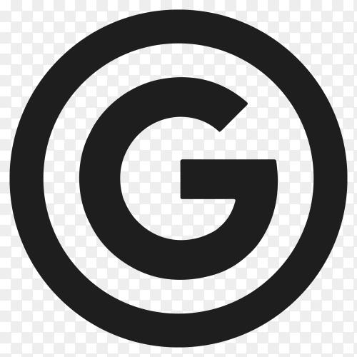 Google flat icon design on transparent background PNG