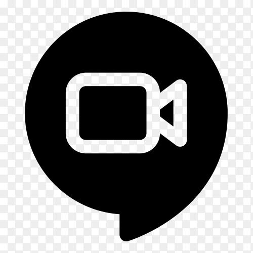 Google hangouts meet logo premium vector PNG