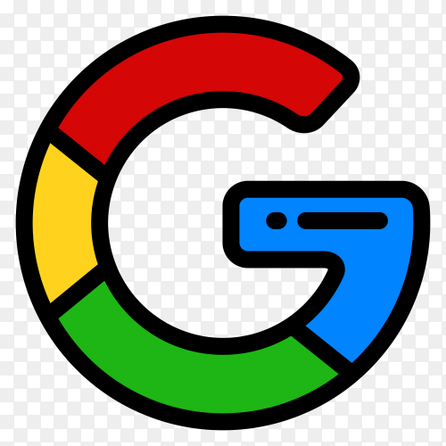 Google logo in flat design clipart PNG