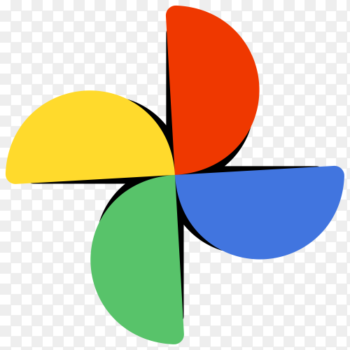 Google logo photos design premium vector PNG
