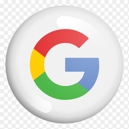Google modern 3D icon on transparent Background PNG
