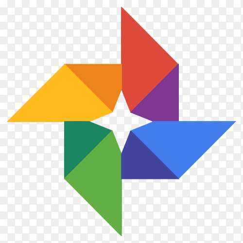 Google photos logo design on transparent PNG