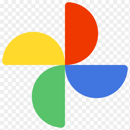 Google photos logo in flat design on transparent background PNG