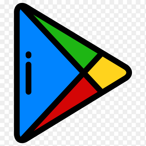 Google play store icon on transparent background PNG