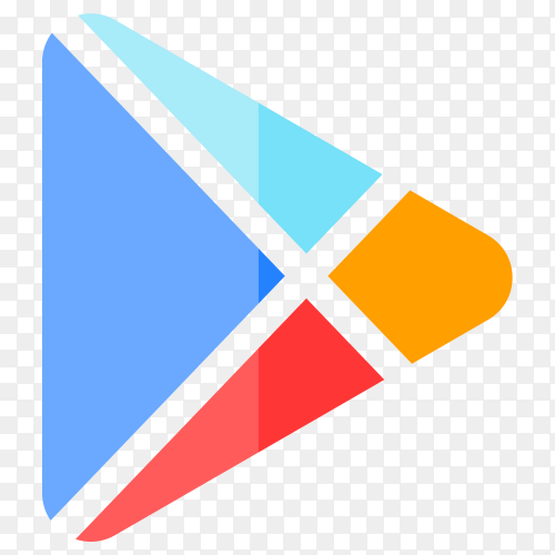 Google play store logo design on transparent PNG