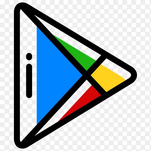 Google play store logo premium vector PNG