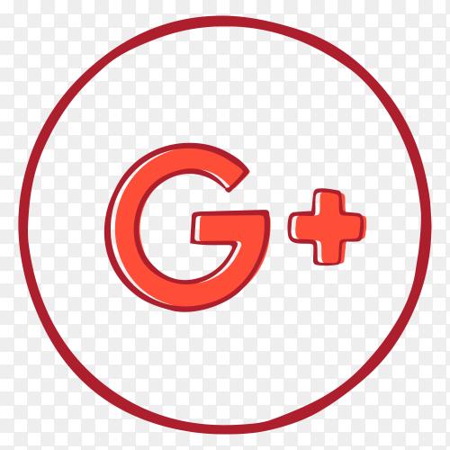 Google plus logo design premium vector PNG