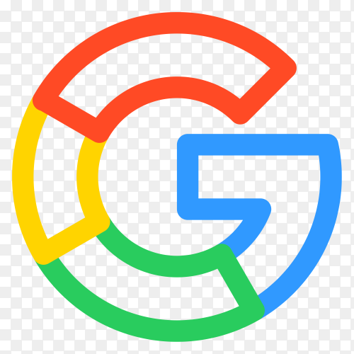 Google template logo on transparent background PNG