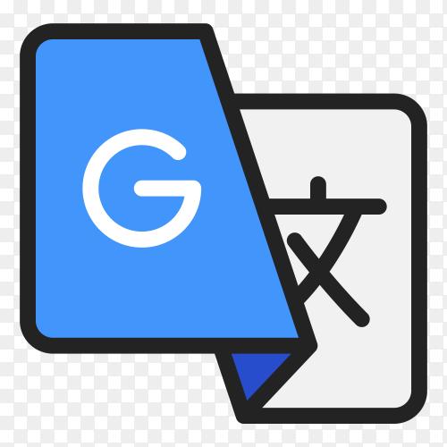 Google translate icon design on transparent background PNG