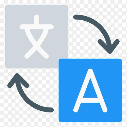 Google translate logo in flat design premium vector PNG