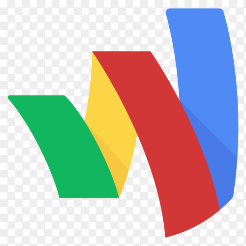 Google wallet icon illustration on transparent background PNG