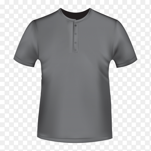 Gray t-shirt mockup template isolated premium vector PNG