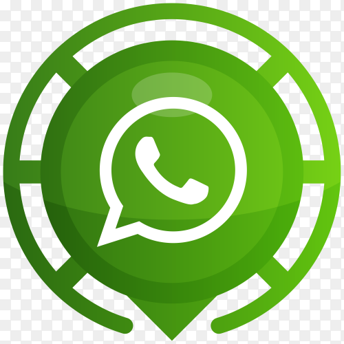 Green Whatsapp logo on transparent PNG