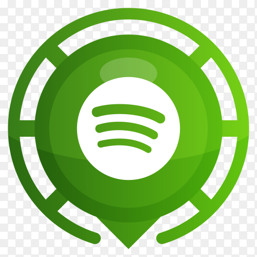 Green spotify logo design premium vector PNG