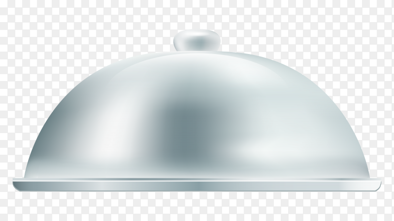 Grey tray for dish on transparent background PNG