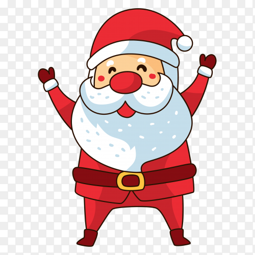 Hand drawn Christmas cute character on transparent background PNG