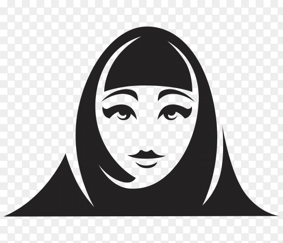 Hand drawn muslim woman in traditional wear premium vector PNG