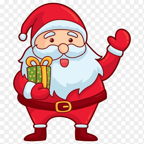 Hand drawn nice Santa Claus Clipart PNG