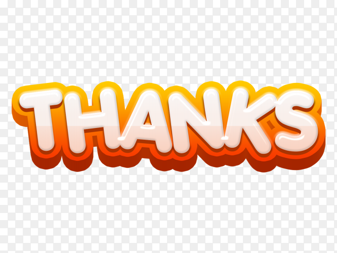 Hand written thanks on transparent background PNG