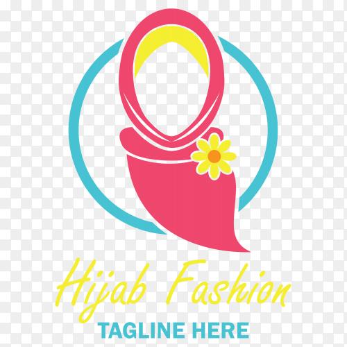 Hijab fashion logo clipart PNG