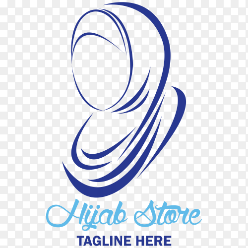 Hijab store logo isolated on transparent background PNG