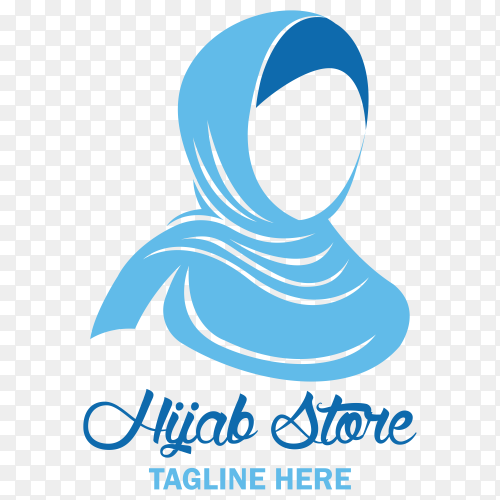 Hijab store logo on transparent background PNG