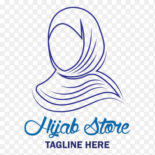 Hijab store logo premium vector PNG