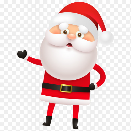 Illustration cartoon Santa Claus on transparent background PNG
