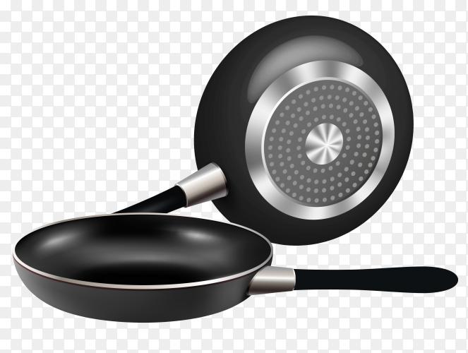Illustration of frying pan on transparent background PNG