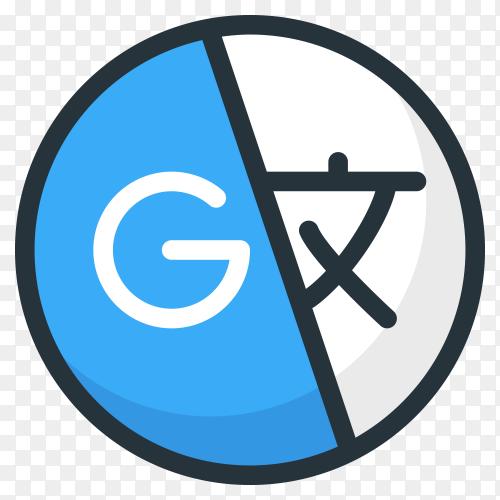 Illustration of google translate icon on transparent background PNG