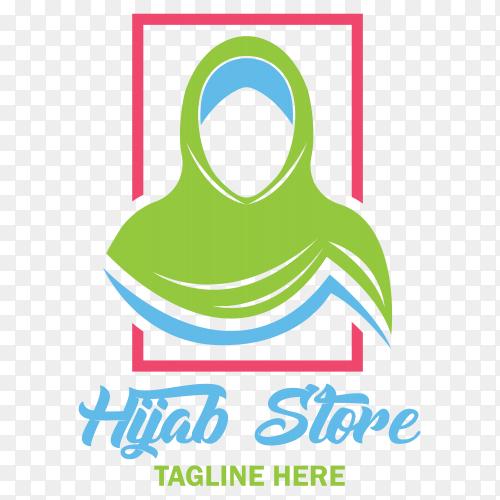 Illustration of hijan store logo design on transparent background PNG