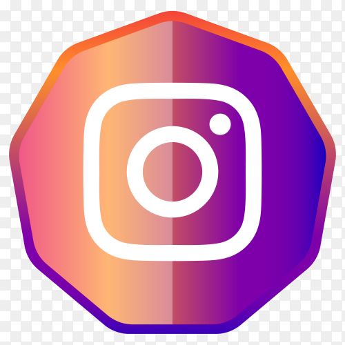Instagram icon button design premium vector PNG